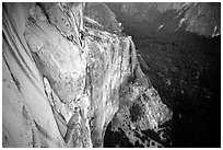Tom McMillan and Valerio Folco on the last pitch. El Capitan, Yosemite, California (black and white)