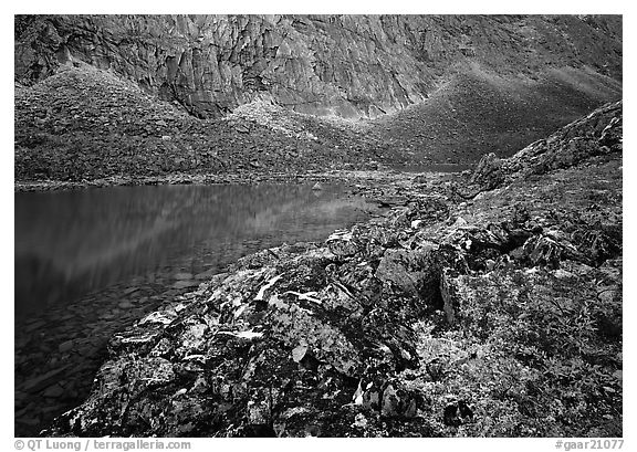 Aquarious Lake II. Gates of the Arctic National Park (black and white)