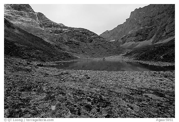 Aquarious Lake III. Gates of the Arctic National Park (black and white)