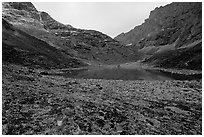 Aquarious Lake III. Gates of the Arctic National Park, Alaska, USA. (black and white)