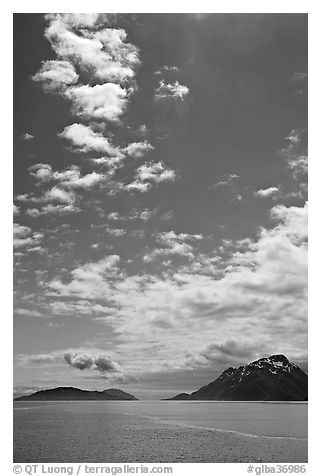 Drake and Francis Islands. Glacier Bay National Park (black and white)