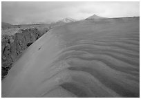 Ash dune formation, Valley of Ten Thousand smokes. Katmai National Park, Alaska, USA. (black and white)