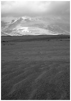 Ash formation, Valley of Ten Thousand smokes. Katmai National Park ( black and white)