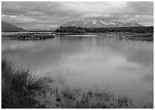 Sunset on the Brooks river. Katmai National Park ( black and white)