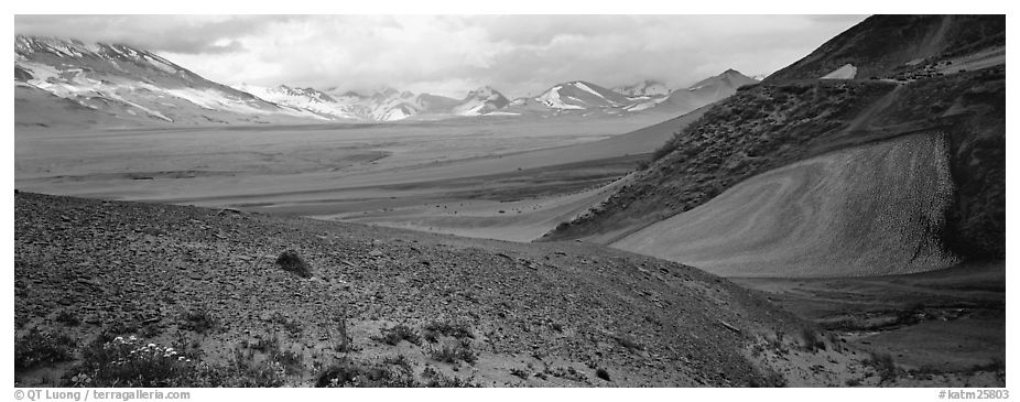 Valley of Ten Thousand Smokes. Katmai National Park (black and white)
