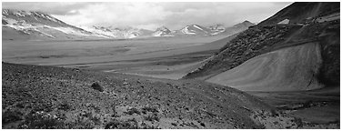 Valley of Ten Thousand Smokes. Katmai National Park (Panoramic black and white)