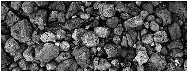 Pumice close-up, Valley of Ten Thousand Smoke. Katmai National Park (Panoramic black and white)