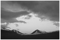 Mt Meigeck, Valley of Ten Thousand Smokes, sunset. Katmai National Park ( black and white)