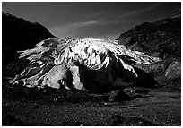 Front of Exit Glacier. Kenai Fjords National Park ( black and white)