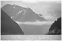 Granite Passage. Kenai Fjords National Park, Alaska, USA. (black and white)