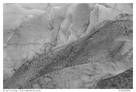Detail of ice on Exit Glacier. Kenai Fjords National Park (black and white)