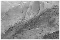 Detail of ice on Exit Glacier. Kenai Fjords National Park ( black and white)