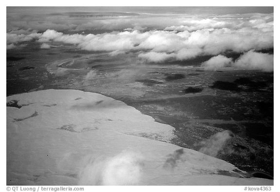 Aerial view of the Arctic dune field. Kobuk Valley National Park (black and white)
