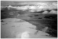 Aerial view of the Arctic dune field. Kobuk Valley National Park, Alaska, USA. (black and white)