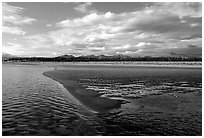 Sand bar on the Kobuk River. Kobuk Valley National Park, Alaska, USA. (black and white)