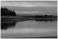 Dusk on the Kobuk River. Kobuk Valley National Park ( black and white)