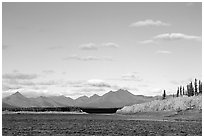 River and Baird mountains. Kobuk Valley National Park ( black and white)