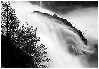 Tanalian falls. Lake Clark National Park, Alaska, USA. (black and white)