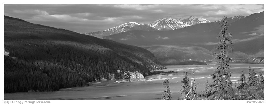 River valley. Wrangell-St Elias National Park (black and white)