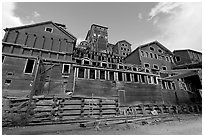Historic Kennecott Mill. Wrangell-St Elias National Park, Alaska, USA. (black and white)