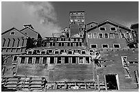 Kennecott concentration and smelting plant. Wrangell-St Elias National Park, Alaska, USA. (black and white)