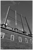 Historic Kennecott power plant. Wrangell-St Elias National Park, Alaska, USA. (black and white)