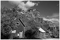 Kennecott mill town. Wrangell-St Elias National Park, Alaska, USA. (black and white)