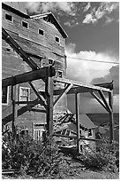 Kennecott Mill, late afternoon. Wrangell-St Elias National Park, Alaska, USA. (black and white)