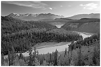 Kuskulana river. Wrangell-St Elias National Park ( black and white)