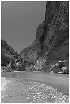 Rio Grande River, Boquillas Canyon. Big Bend National Park ( black and white)
