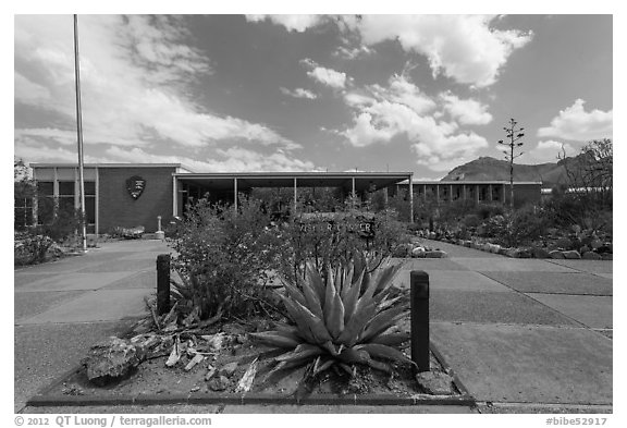 Panther Junction visitor center. Big Bend National Park (black and white)