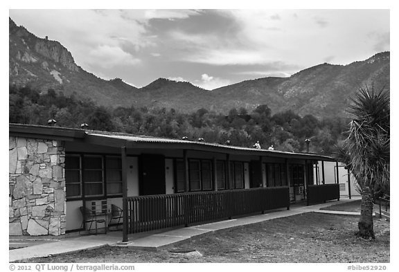 Guestrooms, Chisos Mountain Lodge. Big Bend National Park (black and white)