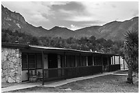 Guestrooms, Chisos Mountain Lodge. Big Bend National Park ( black and white)