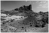 Cerro Castellan. Big Bend National Park, Texas, USA. (black and white)