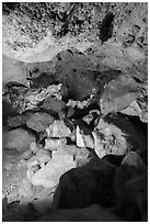 Rocks and hole. Carlsbad Caverns National Park ( black and white)