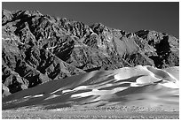 Eureka Dunes and Last Chance range, late afternoon. Death Valley National Park, California, USA. (black and white)