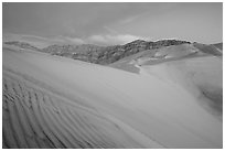 Eureka Dunes, tallest in the park, dusk. Death Valley National Park ( black and white)