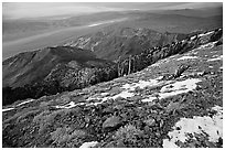 View from Telescope Peak. Death Valley National Park, California, USA. (black and white)