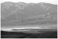Valley and mountains. Death Valley National Park, California, USA. (black and white)