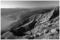 Dante's view, sunset. Death Valley National Park, California, USA. (black and white)
