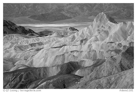 Zabriskie point, dawn. Death Valley National Park, California, USA.
