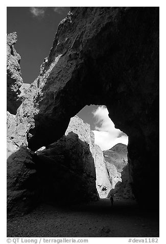 Natural bridge. Death Valley National Park (black and white)