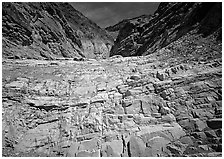 Mosaic Canyon. Death Valley National Park, California, USA. (black and white)