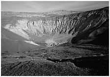 Ubehebe Crater. Death Valley National Park, California, USA. (black and white)