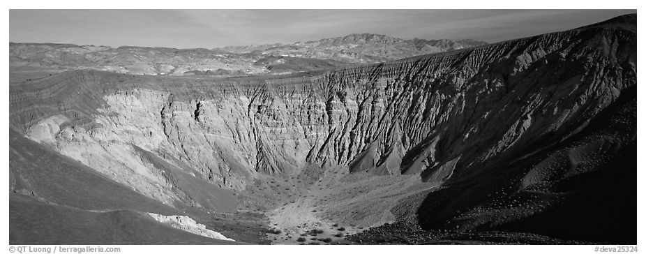 Volcanic Ubehebe crater. Death Valley National Park (black and white)