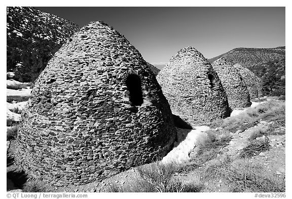 Charcoal kilns. Death Valley National Park (black and white)