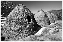 Charcoal kilns. Death Valley National Park, California, USA. (black and white)