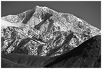 Telescope peak seen from Emigrant Pass. Death Valley National Park, California, USA. (black and white)