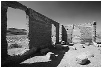 Ashford Mill Ruins. Death Valley National Park, California, USA. (black and white)