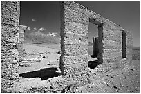Ruins of Ashford Mill. Death Valley National Park, California, USA. (black and white)